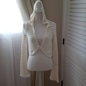 Free people cropped hooded sweater❤❤❤